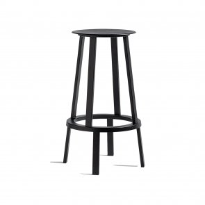 Hay Revolver bar stool barstol Black (RAL 9005) heigh hög